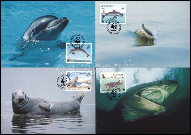 WWF Sea animals set 4 CM, WWF Tengeri állatok 4 db CM-en
