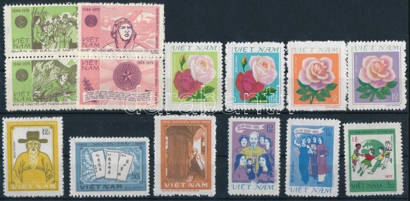 1980-1981  12  stamps with sets, 1980-1981 12 klf bélyeg, közte sorok