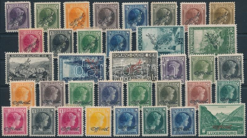 1926-1935 36 Official stamps, 1926-1935 36 db Hivatalos bélyeg