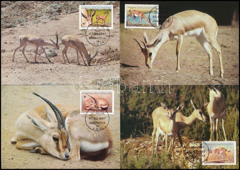 WWF Gazelle set 4 CM, WWF: Gazella sor 4 db CM-en