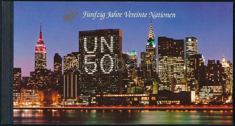 UN stampbooklet, 50 éves az ENSZ bélyegfüzet