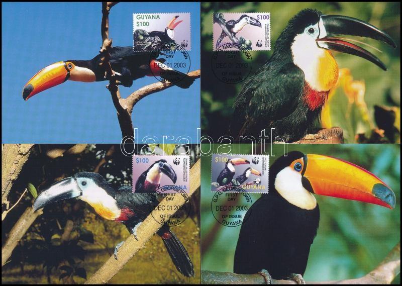 WWF Tucans set 4 CM, WWF: Tukánok sor 4 db CM-en