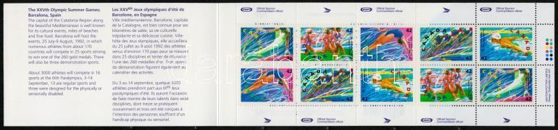 Winter Olympics Alberville stamp-booklet, Téli olimpia Albertville bélyegfüzet