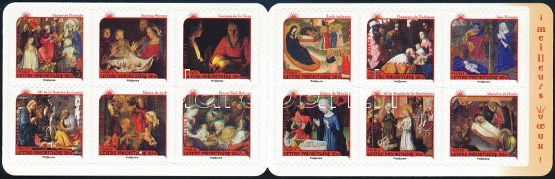 Christmas paintings self-adhesive stamp-booklet, Karácsonyi festmények öntapadós bélyegfüzet