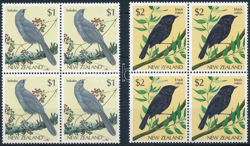 Birds set in blocks of 4, Madarak sor négyestömbökben