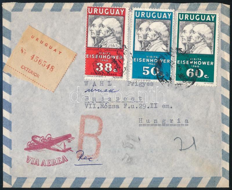 Registered aimrial cover to Hungary, Budapest, Ajánlott légi levél Budapestre