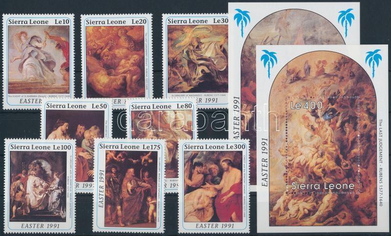 Rubens painting set + blockset, Rubens festmény sor + blokksor