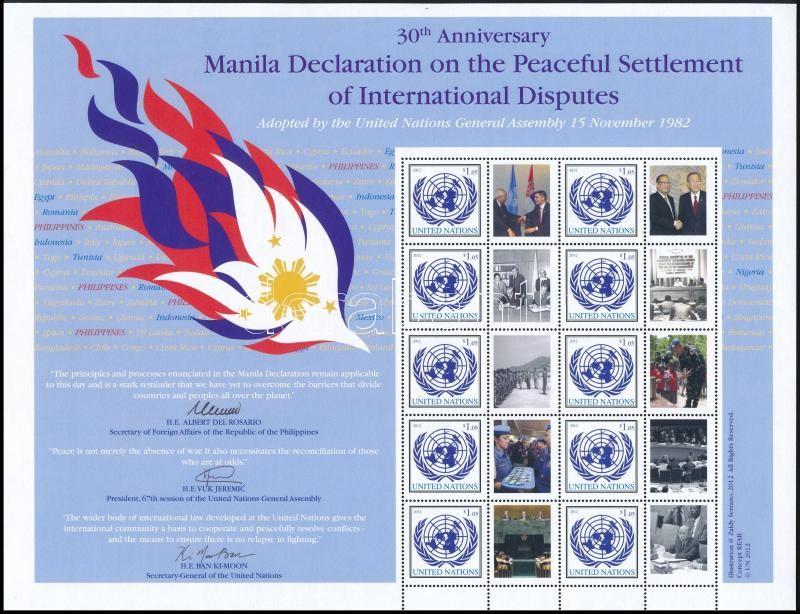 Greetings stamps complete sheet (Manila), Üdvözlőbélyeg teljes ív (Manila)