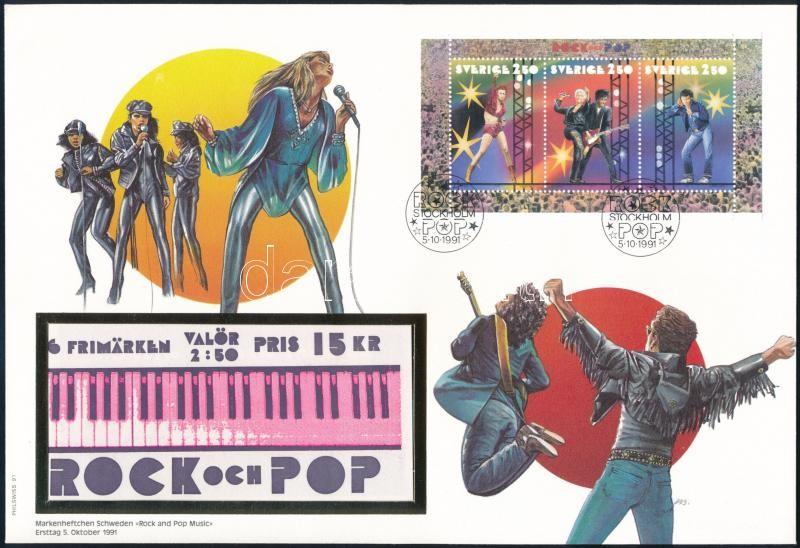 Music stamp booklet sheet FDC, Zene bélyegfüzetlap FDC-n