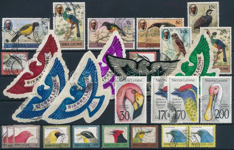 1981-1992 28 Bird stamps, 1981-1992 28 db Madár bélyeg