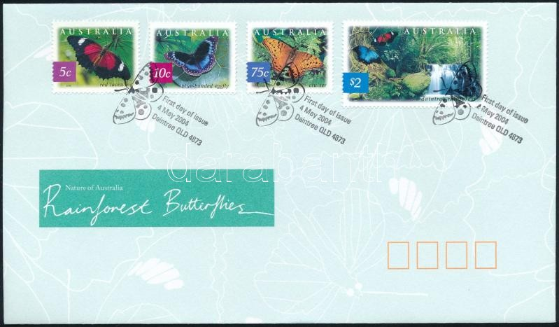 Butterfly set FDC, Pillangó sor FDC-n