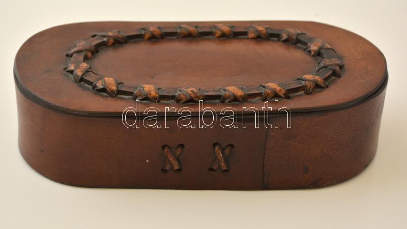f3e7d5bbc412 Iparművész bőr doboz, jelzés nélkül, jó állapotban, 20×9 cm ...