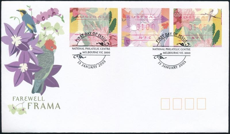 Automatic stamps FDC, Automata bélyegek FDC-n