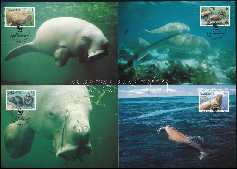 WWF Dugong set 4 CM, WWF: Dugong sor 4 db CM-en