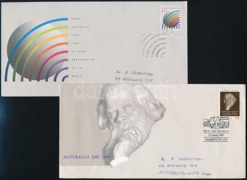 1989-1990 4 FDC, 1989-1990 4 klf FDC