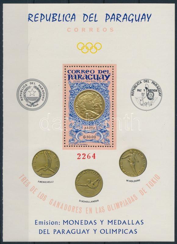 Tokyo Olympics; coins block, Tokiói Olimpia; érmék blokk