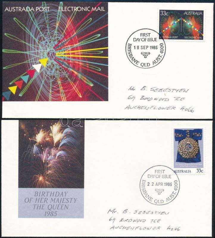 1985-1986 5 FDC, 1985-1986 5 klf FDC