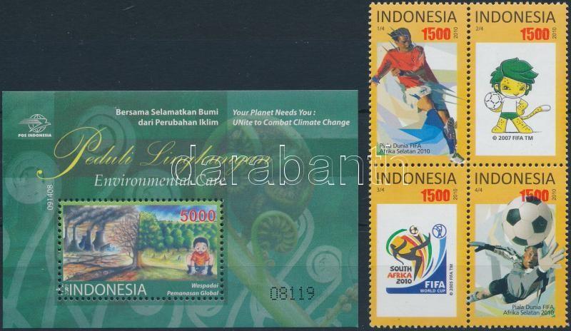 2009-2010 Indonesia block + block of 4, 2009-2010 Indonézia blokk + négyestömb