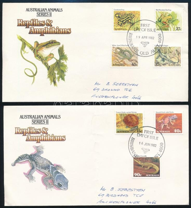 Definitive set 2 FDC, Forgalmi sor 2 db FDC-n