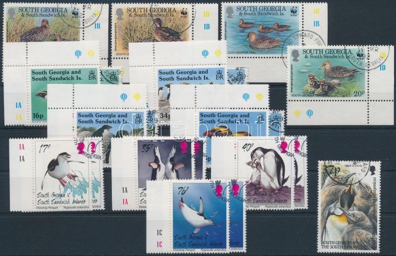 1992-2000  21 bird stamps, 1992-2000 21 db Madár bélyeg