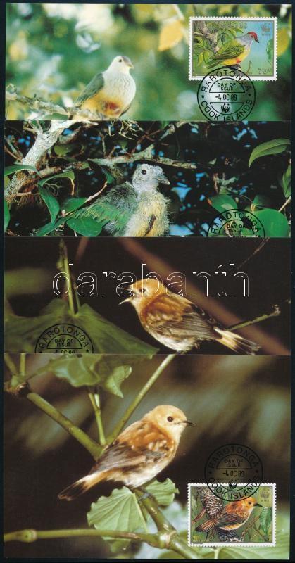 WWF Rare birds set on 4 CM, WWF Ritka madarak sor 4 CM-en