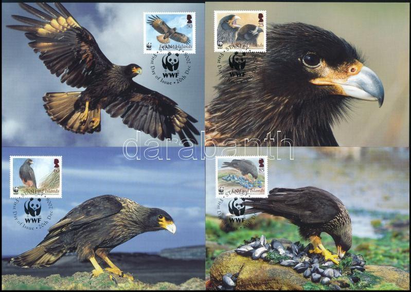 WWF Eagle set on 4 CM, WWF: Tűzföldi karakara sor 4 CM