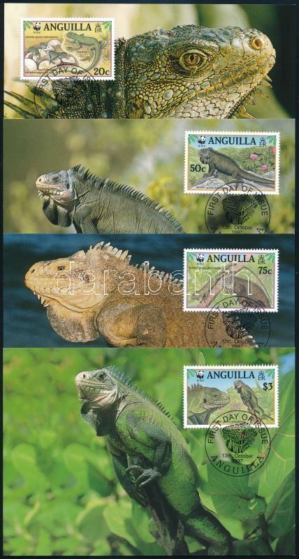 WWF Iguana set 4 CM, WWF Leguán sor 4 CM