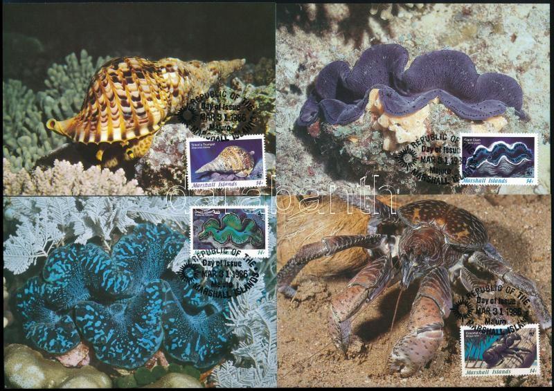 WWF Sea creatures set 4 CM, WWF: Tengeri élőlények sor 4 db CM-en