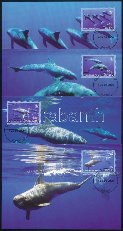 WWF: Törpe kardszárnyú delfinek sor 4 CM, WWF Pygmy killer whales set 4 CM