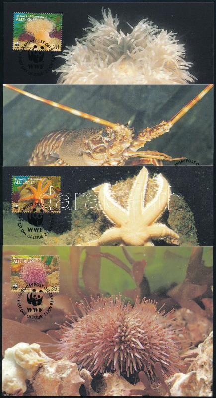 WWF Sea animals set 4 CM, WWF: Tengeri állatvilág sor 4 db CM