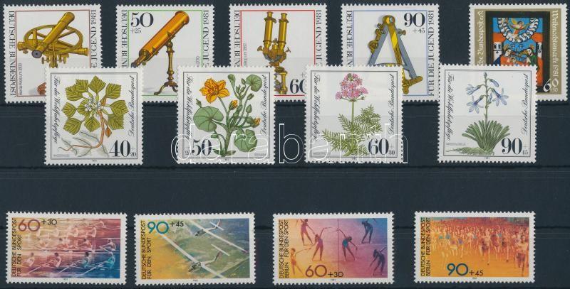 3 sets + 1 stamp, 3 klf sor + 1 önálló érték