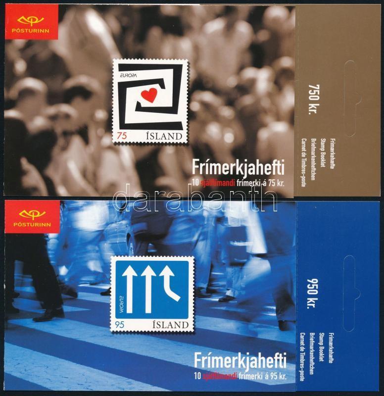 Europa CEPT 2 stamp-bookletm self-adhesive stamps, Europa CEPT 2 bélyegfüzet, öntapadós bélyegek