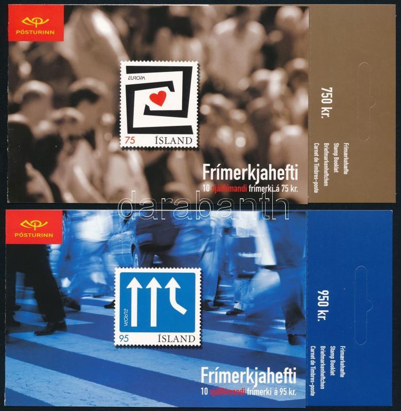 Europa CEPT 2 bélyegfüzet, öntapadós bélyegek, Europa CEPT 2 stamp-bookletm self-adhesive stamps