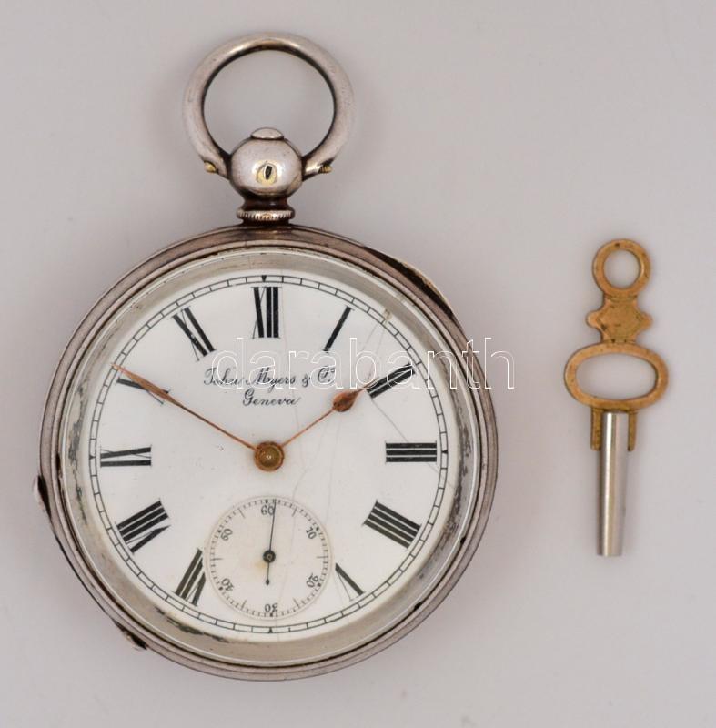 cca 1880 John Myers and Co. Geneva. Svájci zsebóra kulcsos felhúzással. 2d9c5c86cf