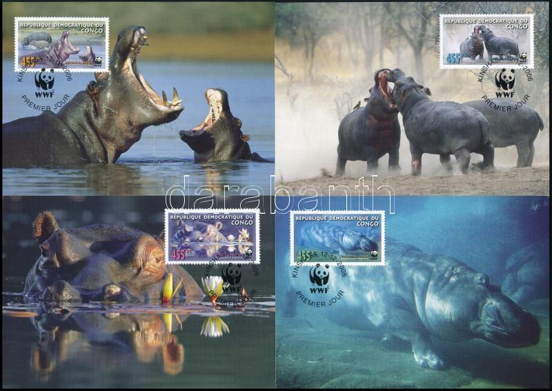 WWF Hippos set 4 CM, WWF víziló sor 4 CM