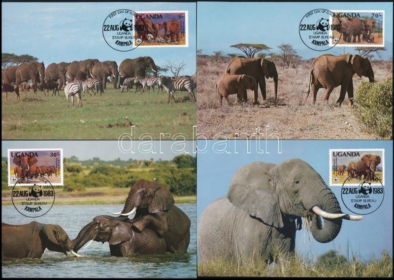 WWF African elephant set 4 CM, WWF: Afrikai elefánt sor 4 db CM-en