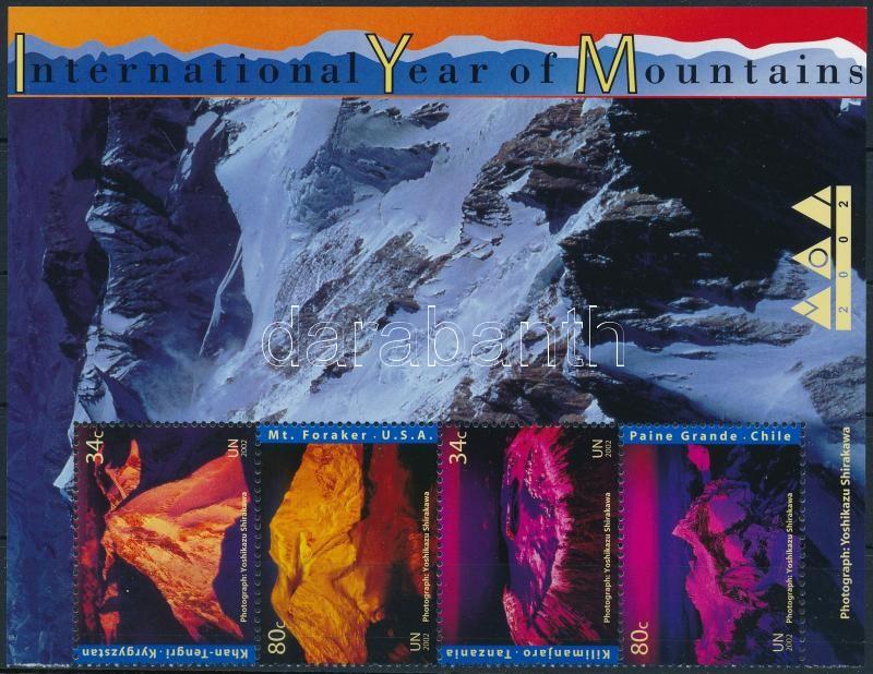 Year of Mountain corner stripe of 4, Hegyek éve ívsarki négyescsík