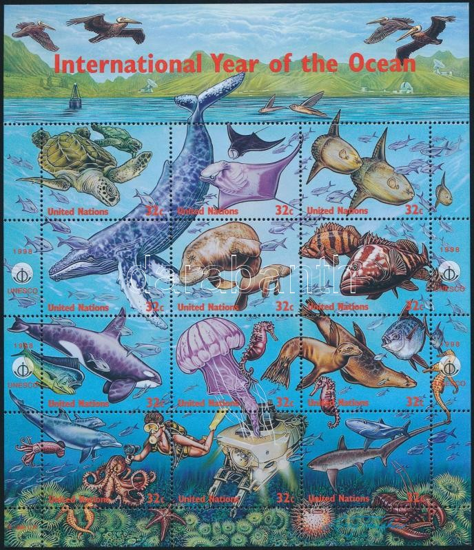 Year of oceans complete sheet, Óceánok éve teljesív