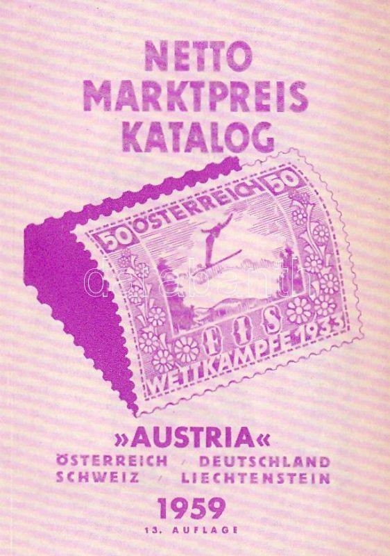 Austria Netto Katalog 1959 Stamp catalog, Austria Netto Katalog 1959 bélyegkatalógus