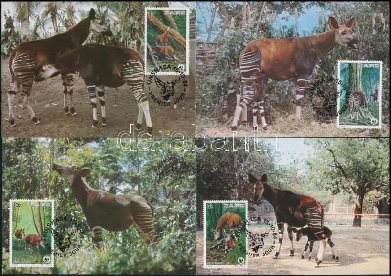 WWF: Okapi set on 4 CM, WWF: Okapi sor 4 db CM-en