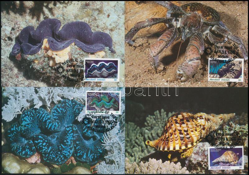 WWF: Sea creatures set on 4 CM, WWF: Tengeri élőlények sor 4 db CM-en