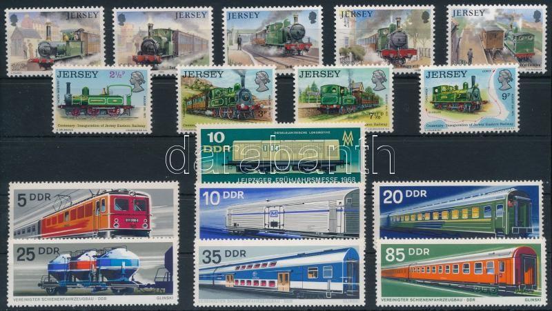 1973-1985 Vonat motívum 3 klf sor + 1 önálló érték, 1973-1985 Trains 3 sets + 1 stamp