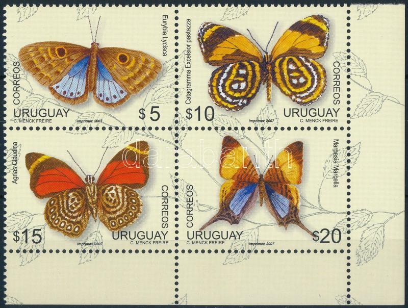 Butterfly set corner block of 4, Lepkék sor ívsarki négyestömbben