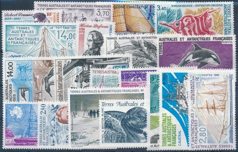 1992-1996 14 klf önálló érték + 1 sor, 1992-1996 14 stamps + 1 set