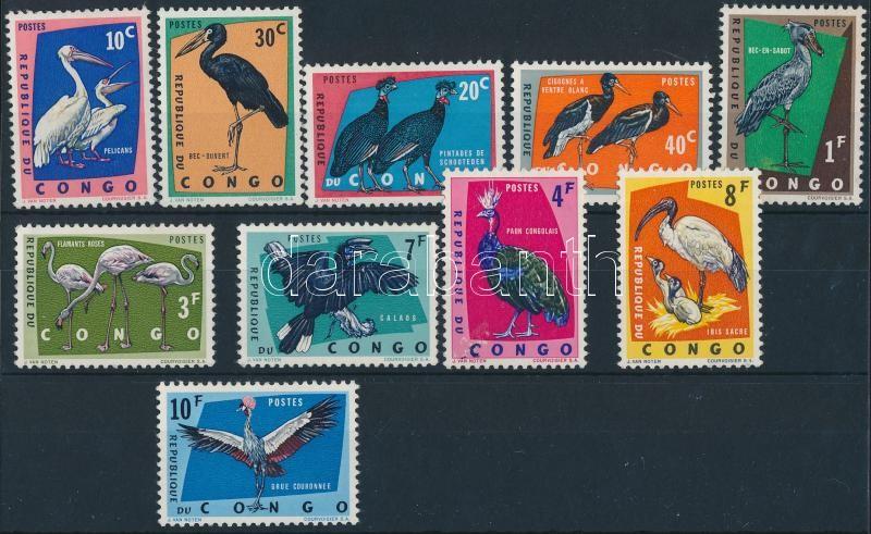 Bird 10 diff stamps, Madár 10 klf bélyeg