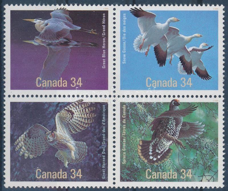 Birds block of 4, Madár négyestömb