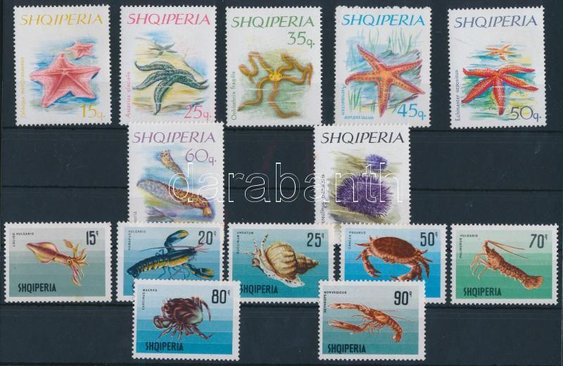 1966-1968 Tengeri állatok 2 klf sor, 1966-1968 Sea animals 2 sets