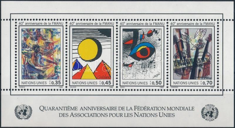 ENSZ Festmények blokk, UNO Paintings block