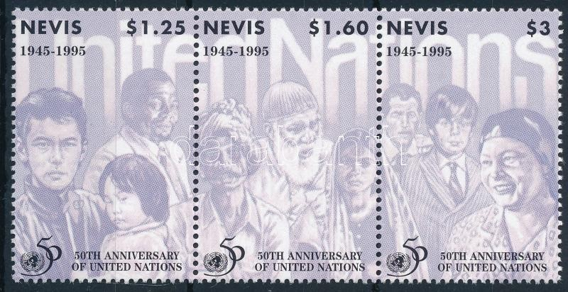 UN set in stripe of 3, ENSZ sor hármascsíkban