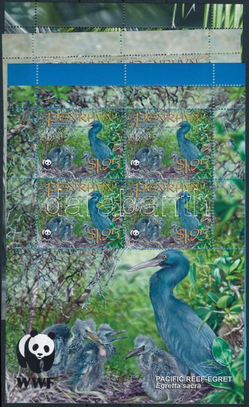 WWF: Kócsag kisív sor, WWF: Egret minisheet set
